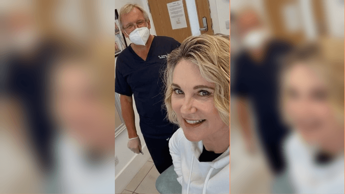 Anthea: indulging in her first Botox treatment since lockdown