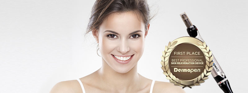 smiling lady with dermapen